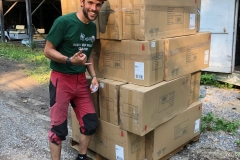 Arrival of sponsored Razor Scooters at Seeds Of Peace Camp