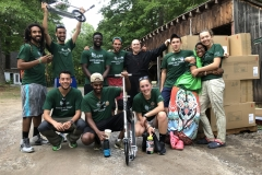 Wheelers celebrating arrival of sponsored Razor Scooters