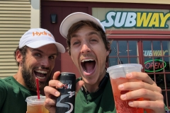 Celebrating Subway's sponsorship